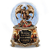 St. Michael The Archangel Glitter Globe