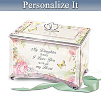 My Daughter, I Love You Personalized Music Box