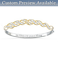 Family Blessings Personalized Diamond Bracelet