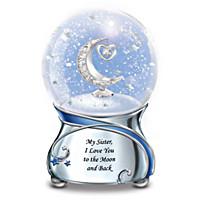 Sister, I Love You To The Moon Glitter Globe
