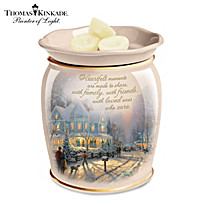 Thomas Kinkade Family Celebrations Porcelain Aroma Wax Warmer