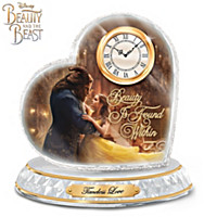 Disney Beauty And The Beast Crystal Heart Clock