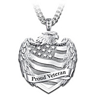 Proud Veteran Pendant Necklace