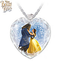 Disney Beauty And The Beast Pendant Necklace