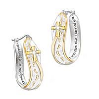 Footprints In The Sand Diamond Earrings