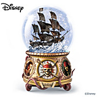 Disney Pirates Of The Caribbean Glitter Globe