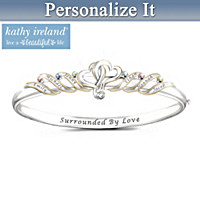 kathy ireland Our Family Is Beautiful Personalized Bracelet