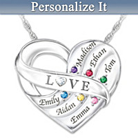 Love Holds Our Family Together Personalized Pendant Necklace