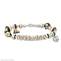 Pittsburgh Steelers Cable Charm Bracelet
