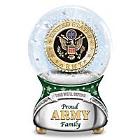 Proud Army Family Glitter Globe