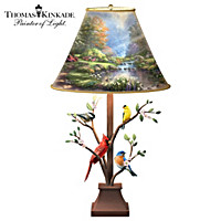 Thomas Kinkade Joyous Gathering Lamp