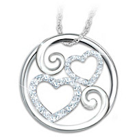 Forever Mother & Daughter Pendant Necklace