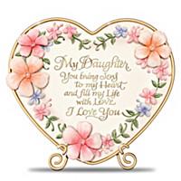 Daughter, I Love You Heart Sculpture