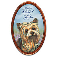 Happiness Is My Yorkie Collector Plate