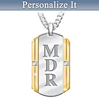 Beloved Son Personalized Diamond Pendant Necklace