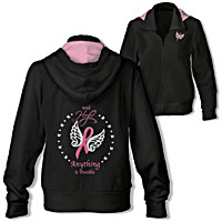 Wings Of Hope Embroidered Women's Hoodie