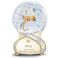 Paw Prints To Rainbow Bridge Musical Glitter Globe