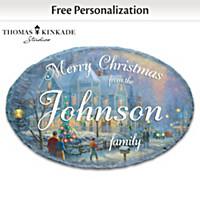 Thomas Kinkade Holiday Personalized Welcome Sign
