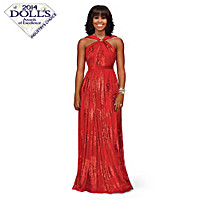 Michelle Obama Inaugural Ball Portrait Doll