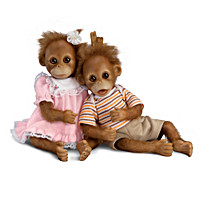Oopsie And Daisy Monkey Doll Set