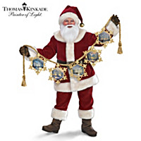 Thomas Kinkade Light Up The Season Santa Doll