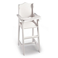 White High Chair Baby Doll Accessory