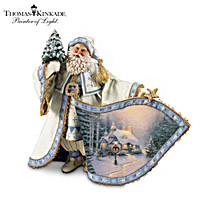 Thomas Kinkade Frosty Christmas Eve Santa Figurine