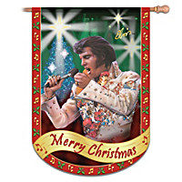 Elvis Merry Christmas Flag