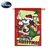 Merry Christmas Vintage Mickey Flag