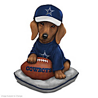 Cowboys Sunday Afternoon Quarter-Bark Figurine