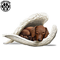 Dachshunds Leave Paw Prints On Our Hearts Figurine