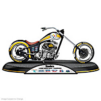 Pittsburgh Steelers Driven To Victory Motorcycle Sculpture