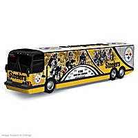 Pittsburgh Steelers On The Road To Victory Bus Sculpture
