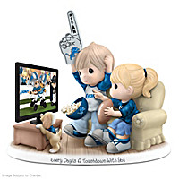 Precious Moments Detroit Lions Fan Porcelain Figurine