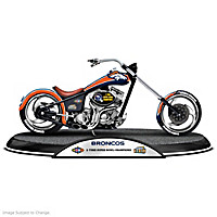 Denver Broncos Driven To Victory Motorcycle Sculpture