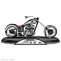 Dallas Cowboys Driven To Victory Motorcycle Sculpture