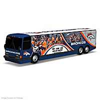 Denver Broncos On The Road To Victory Bus Sculpture