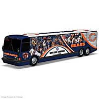 Chicago Bears On The Road To Victory Bus Sculpture