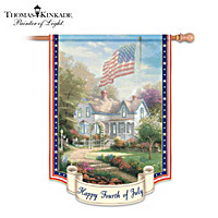 Thomas Kinkade Happy Fourth Of July Flag
