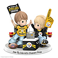 Side By Side With Steelers Pride Figurine