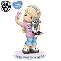 Precious Moments Together We Are Picture Purr-fect Figurine