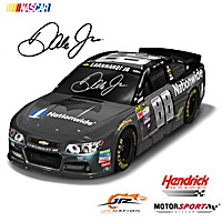 Dale Jr. 2016 #88 Nationwide/Batman Race Car Sculpture