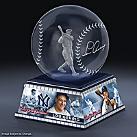 Lou Gehrig Laser-Etched Glass Sculpture
