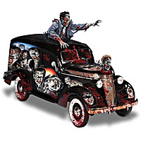 Rising Dead Zombie Hearse Sculpture