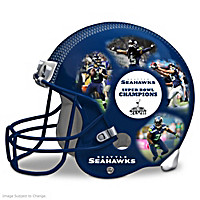 Seattle Seahawks Collage Helmet Sculpture