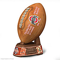 Ohio State Buckeyes Winning Tradition Football Sculpture