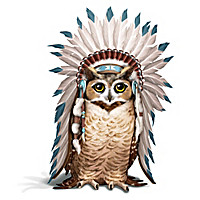 Chief Flies With Feathers Figurine