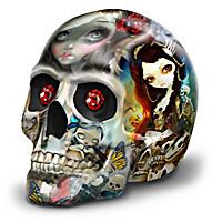 Femme Fatale Skull Figurine