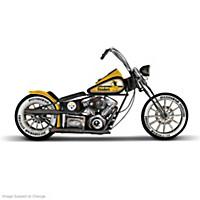 Pittsburgh Steelers Metal Motorcycle Sculpture
