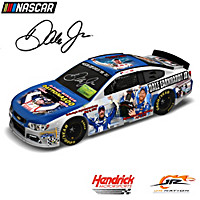 Dale Jr. Winning Moments Autographed Collage Car Sculpture